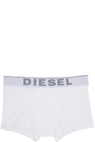 Diesel - White UMBX-Kory Boxer Briefs