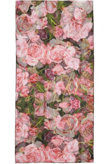 Dolce & Gabbana - Pink Floral Silk Scarf
