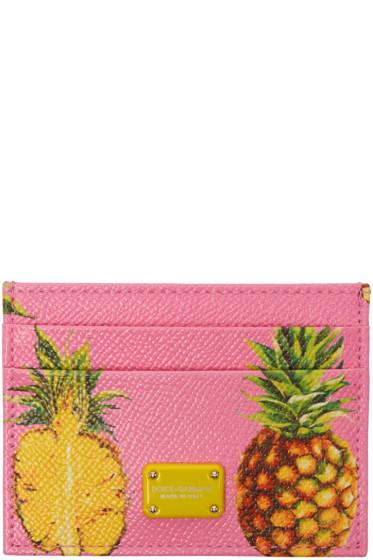 Dolce & Gabbana - Pink Pineapple Card Holder
