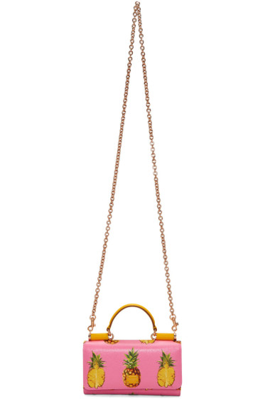 Dolce & Gabbana - Pink Pineapple Small Chain Wallet Bag