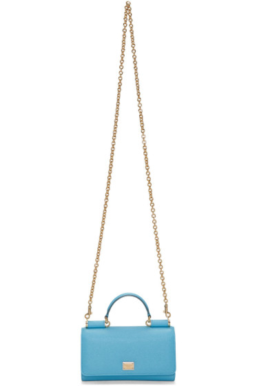 Dolce & Gabbana - Blue Small Chain Wallet Bag