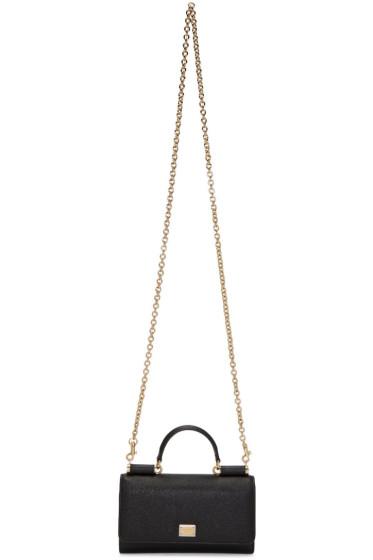 Dolce & Gabbana - Black Small Chain Wallet Bag