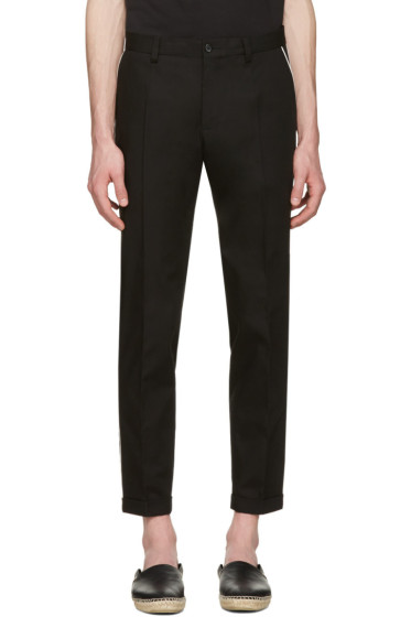 Dolce & Gabbana - Black Contrast Piping Trousers
