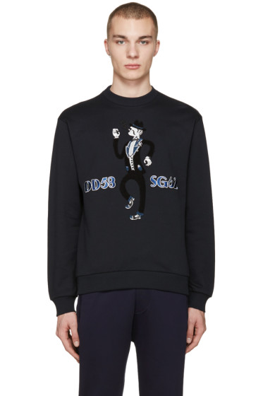 Dolce & Gabbana - Navy Embroidered Musician Pullover