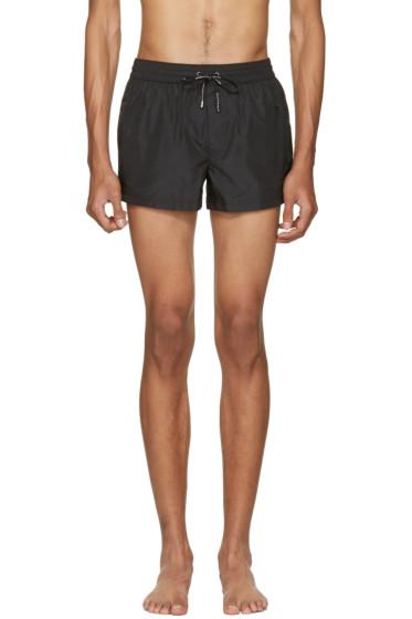 Dolce & Gabbana - Black Crown Swim Shorts