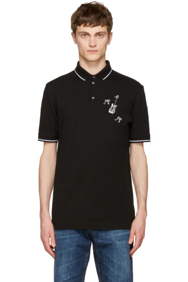 Dolce & Gabbana - Black Guitar Polo