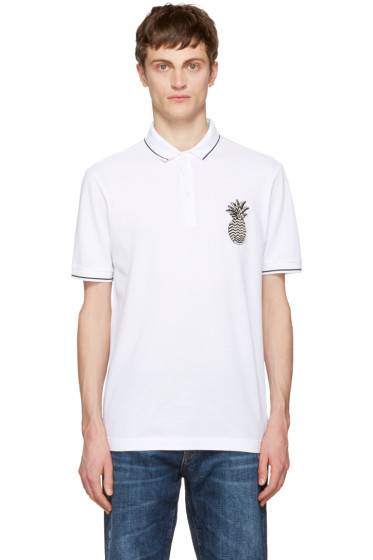 Dolce & Gabbana - White Pineapple Polo