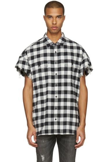 R13 - Black Oversized Cut Off Shirt