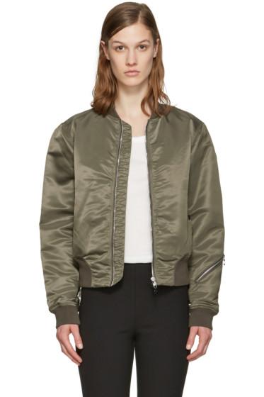 Rag & Bone - Green Nylon Morton Bomber Jacket