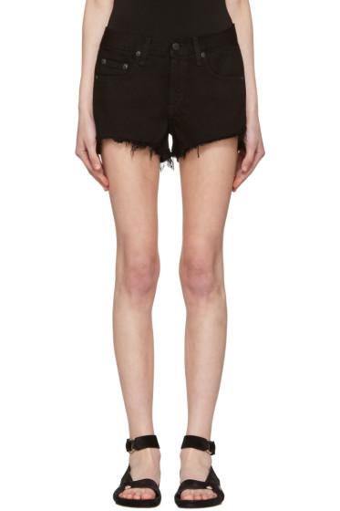 Rag & Bone - Black Denim Cut Out Shorts