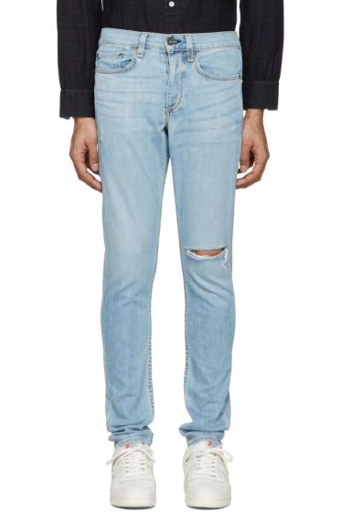 Rag & Bone - SSENSE Exclusive Blue Standard Issue Fit 1 Jeans