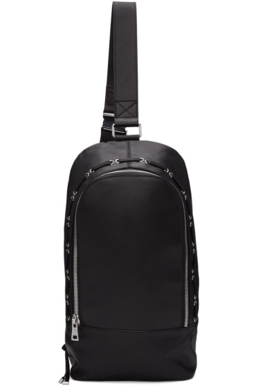 Diesel Black Gold - Black Leather Small Backpack