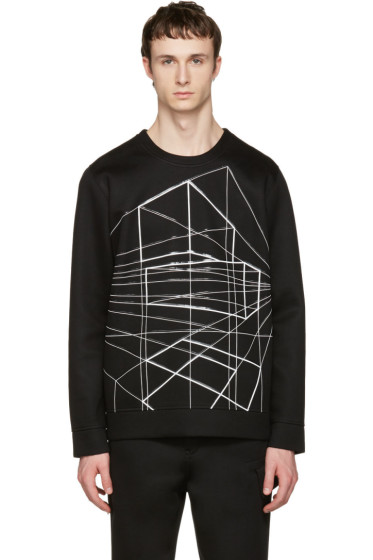 Diesel Black Gold - Black Geometric Pullover