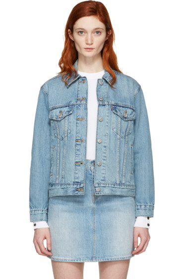 Levi's - Blue Denim Ex-Boyfriend Trucker Jacket