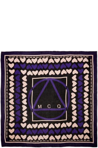 McQ Alexander Mcqueen - Black Hearts Scarf