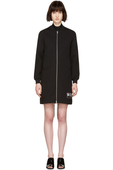 McQ Alexander Mcqueen - Black Long Bomber Jacket