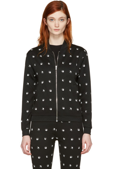 McQ Alexander Mcqueen - Black Swallows Bomber Jacket