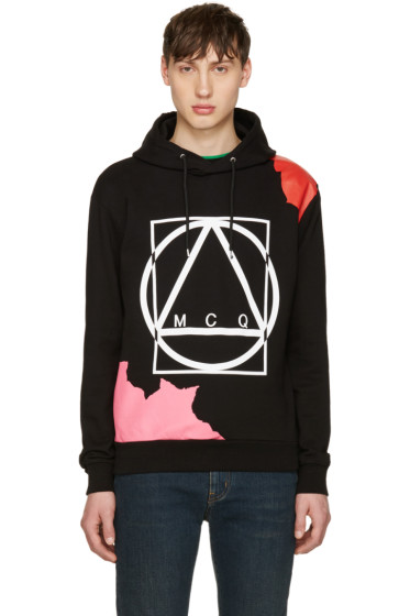 McQ Alexander Mcqueen - Black Abstract Icon Clean Hoodie