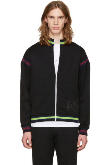 McQ Alexander Mcqueen - Black Cycle Zip-Up Sweater