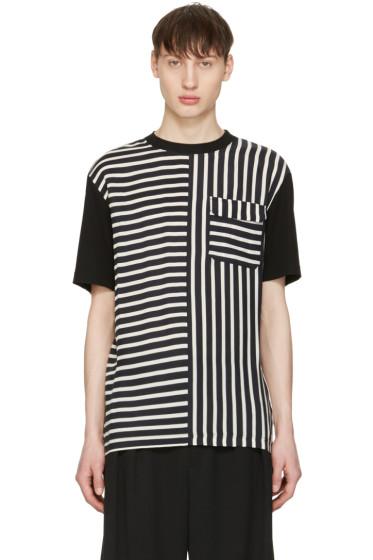 McQ Alexander Mcqueen - Blue Striped River T-Shirt