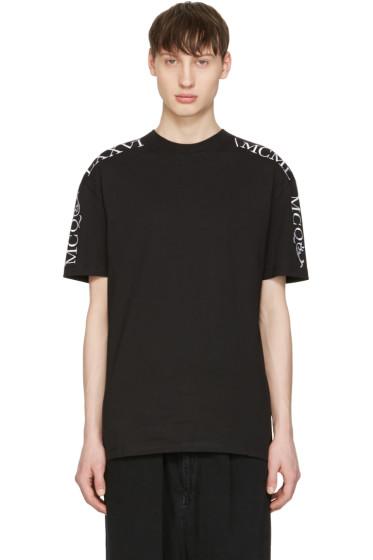 McQ Alexander Mcqueen - Black Numeral T-Shirt