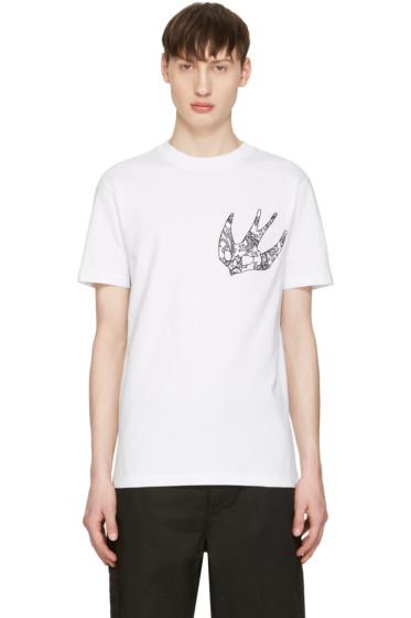 McQ Alexander Mcqueen - White Paisley Swallow T-Shirt