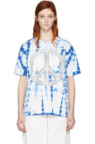 Acne Studios - Blue Tie-Dye Peace T-Shirt