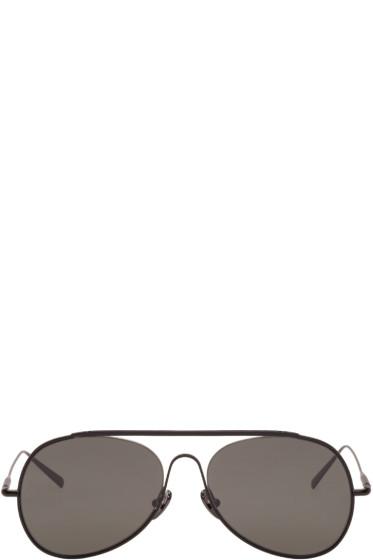Acne Studios - Black Large Spitfire Aviator Sunglasses