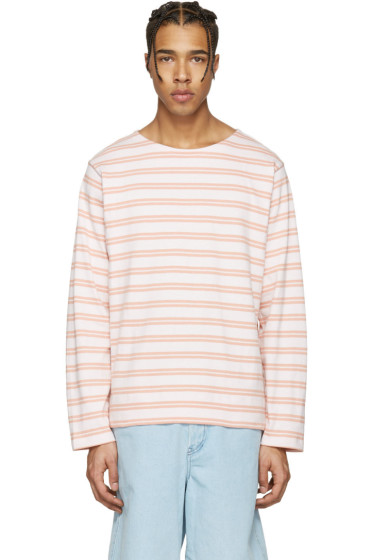 Acne Studios - Pink Striped Nimes T-Shirt