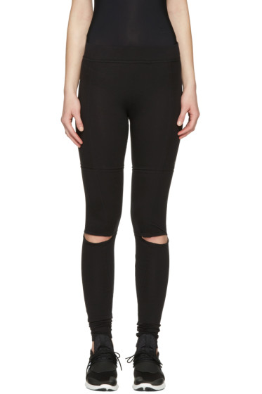 Y-3 - Black Cut Leggings