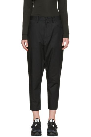 Y-3 - Black Minimalist Sarouel Trousers