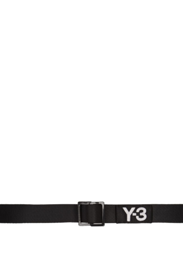 Y-3 - Black Logo Belt