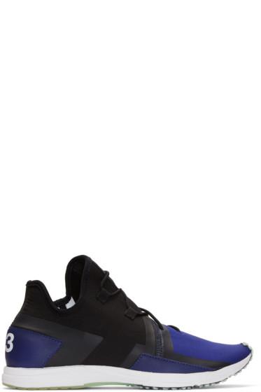 Y-3 - Black & Blue Arc RC Sneakers