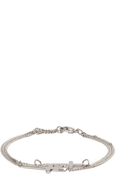 Dsquared2 - Silver Double Cross Bracelet