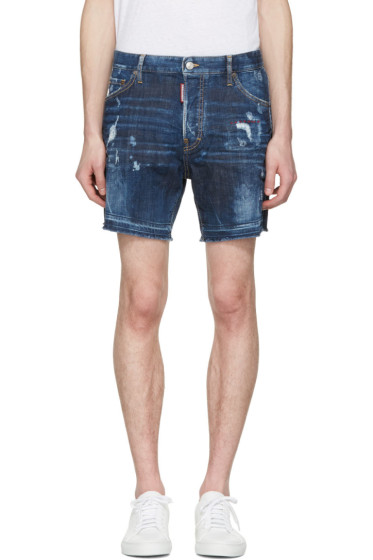 Dsquared2 - Blue Square Crotch Shorts