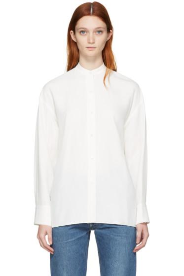 Helmut Lang - White Back Overlap Shirt
