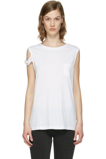 Helmut Lang - White Strappy T-Shirt