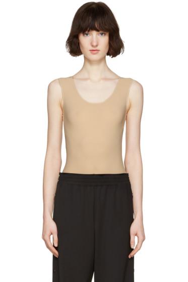 Maison Margiela - Beige Sleeveless Bodysuit