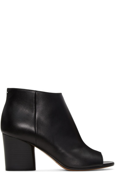 Maison Margiela - Black Open-Toe Ankle Boots
