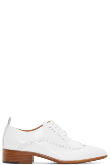 Maison Margiela - White Leather Brogues