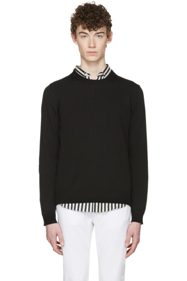 Maison Margiela - Black Elbow Patch Sweater