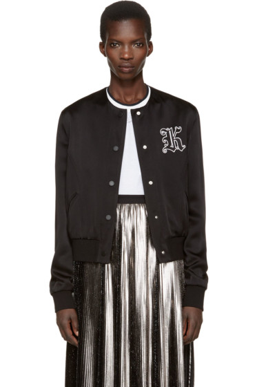 Christopher Kane - Black Cropped Bomber Jacket