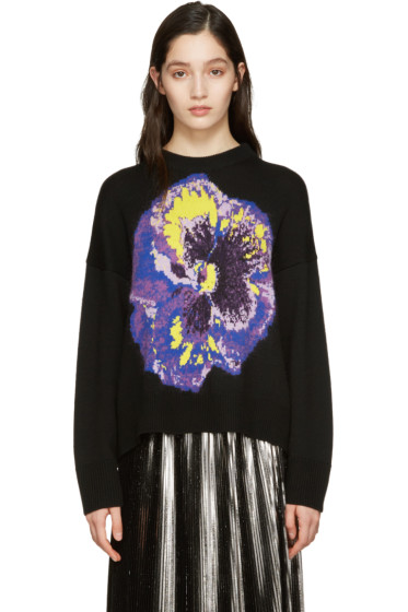 Christopher Kane - Black Flower Sweater