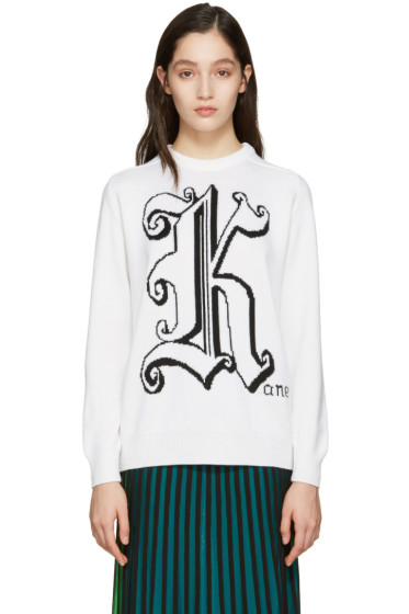 Christopher Kane - Ivory Maxi Logo Sweater