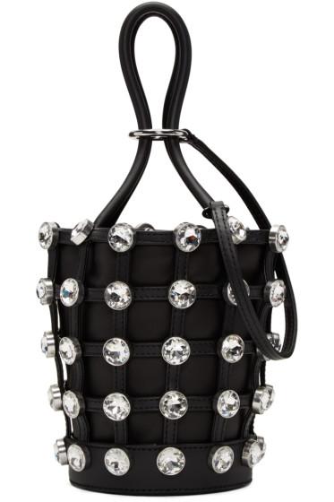 Alexander Wang - Black Mini Crystal Roxy Bucket Bag