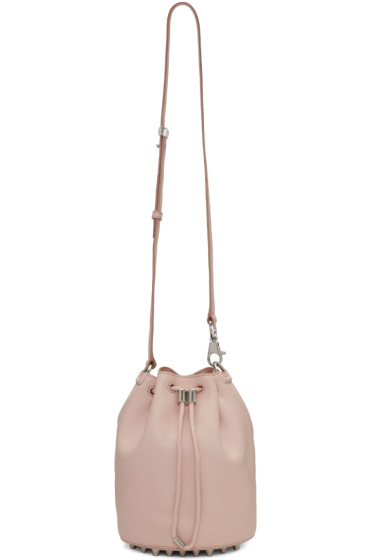 Alexander Wang - Pink Leather Alpha Bucket Bag