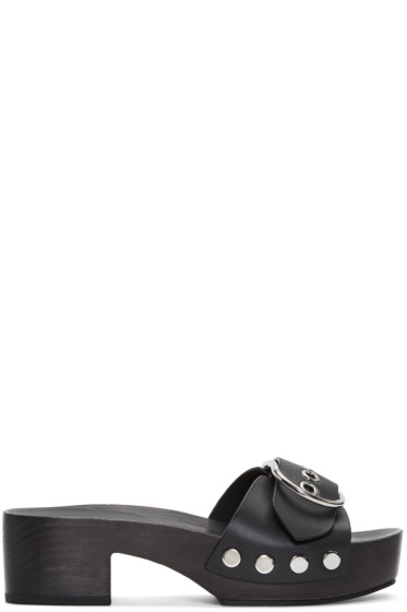 Alexander Wang - Black Maya Clog Sandals