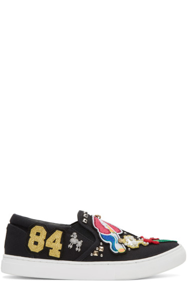 Marc Jacobs - Black Embroidered Mercer Sneakers