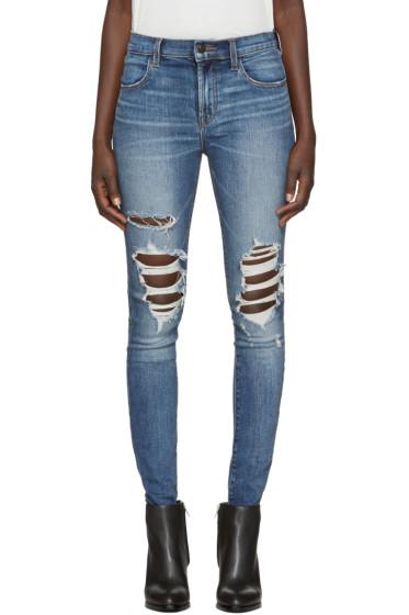 J Brand - Indigo Maria High-Rise Skinny Jeans