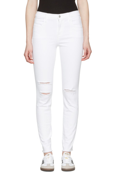 J Brand - White Maria High-Rise Skinny Jeans